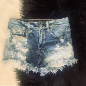 American Eagle H-Rise Shortie Denim Shorts. Size 4